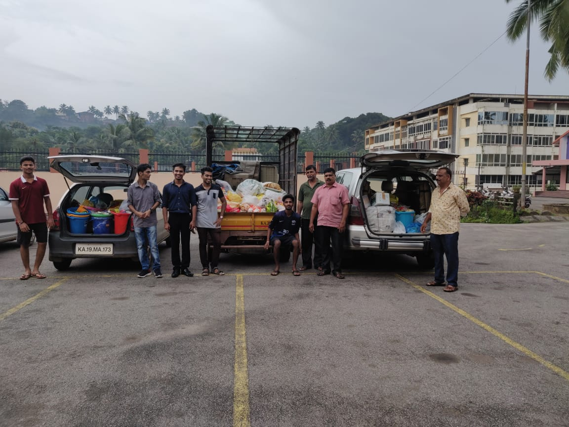 Parish Donates Relief Material